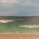Sandpiper and Waves painting