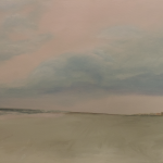 Beach Walk at Dusk painting