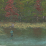 Fly Fisher Path Painting