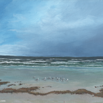 Seagulls and Seaweed painting