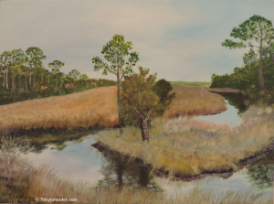 Painting: Pine Stump in Princess Place Preserve