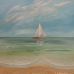 sailboat Cliché painting