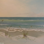 Sea Oats and Railroad Vines Painting
