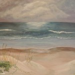 Cloudy Beach painting