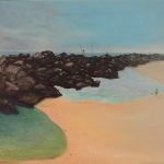 "South Jetties acrylic on canvas 30 x 18 x 0.5"" released: 2015 [not available]"
