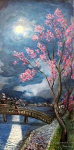 Moonlight Catch original painting