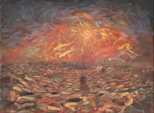 Martian Sunrise - original painting