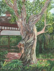 Tree at Ormond Memorial Gardens - original art