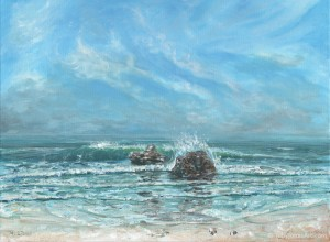 Waves and Rocks - original painting